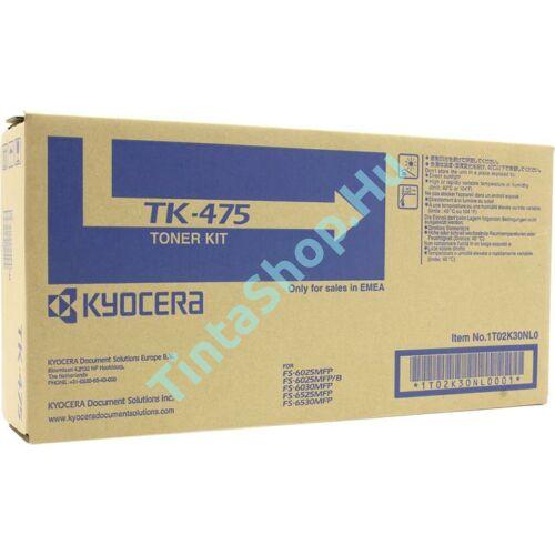 Kyocera TK-475 BK fekete (BK-Black) eredeti (gyári, új) toner
