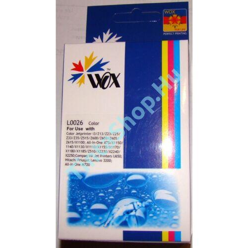 Lexmark 10N0026 (No.26) C színes (C-Color) kompatibilis (utángyártott) tintapatron