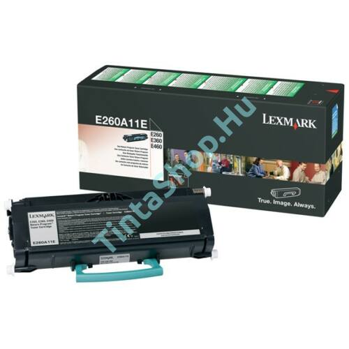 Lexmark [E260, E36x, E46x] E260A11E BK fekete (BK-Black) eredeti (gyári, új) toner