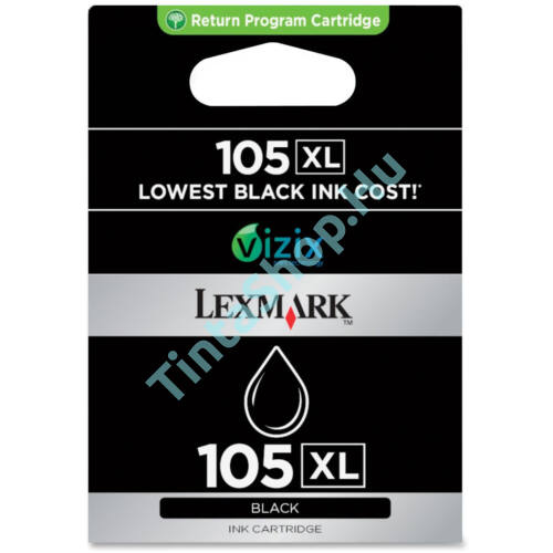Lexmark No.105 (14N0822E) XL BK fekete (BK-Black) eredeti (gyári, új) tintapatron