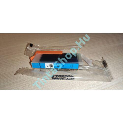 !AKCIÓS! Canon CLI-571 CY XL cián (kék) (CY-Cyan) nagy kapacitású kompatibilis (utángyártott) tintapatron