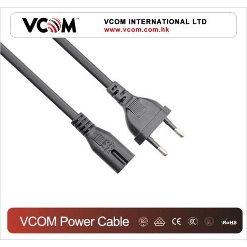 """VCOM hálózati """"magnó"""" tápkábel 1,8M, VDE (CE-023)"""