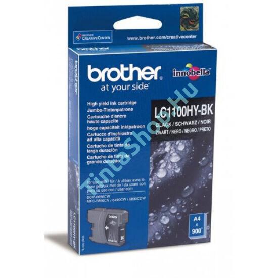 Brother LC1100 HYBK fekete (BK-Black) nagy kapacitású eredeti (gyári, új) tintapatron