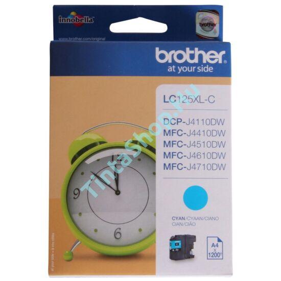 Brother LC125 XL CY cián (kék) (CY-Cyan) nagy kapacitású eredeti (gyári, új) tintapatron