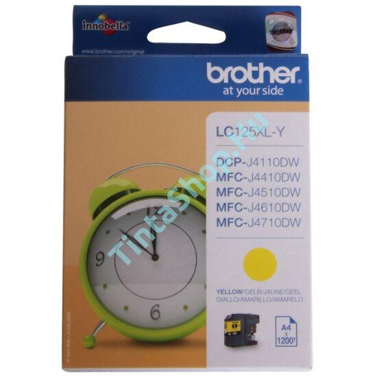 Brother LC125 XL YL sárga (YL-Yellow) nagy kapacitású eredeti (gyári, új) tintapatron