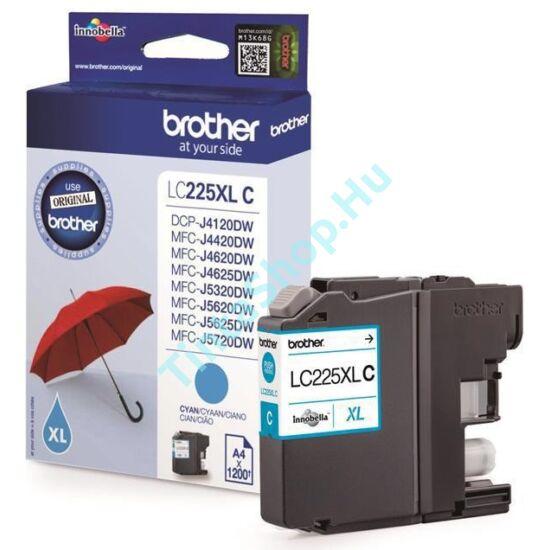 Brother LC225 XL CY cián (kék) (CY-Cyan) nagy kapacitású eredeti (gyári, új) tintapatron