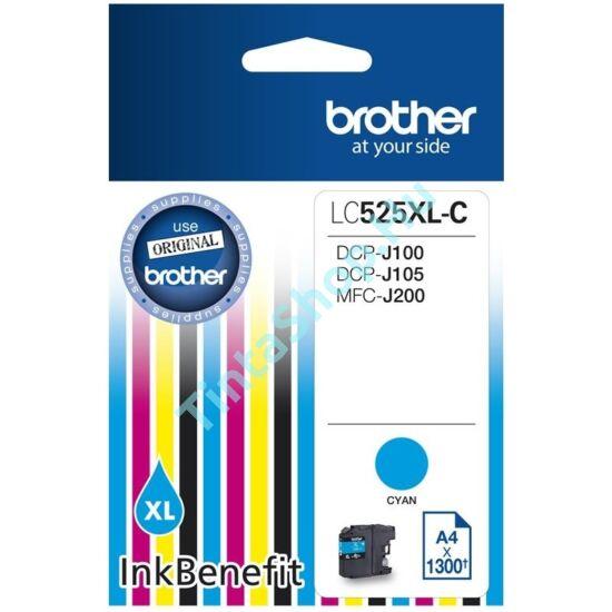 Brother LC525 XL CY cián (kék) (CY-Cyan) nagy kapacitású eredeti (gyári, új) tintapatron