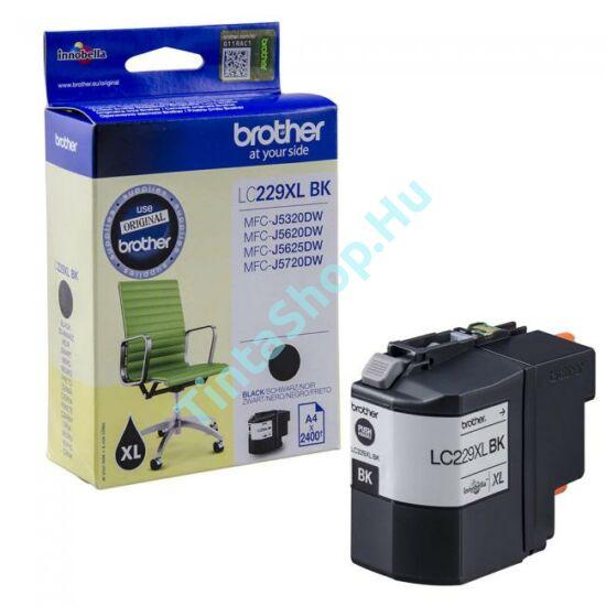 Brother LC229 XL BK fekete (BK-Black) nagy kapacitású eredeti (gyári, új) tintapatron