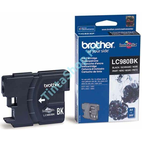 Brother LC980 BK fekete (BK-Black) eredeti (gyári, új) tintapatron