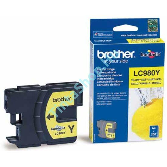 Brother LC980 YL sárga (YL-Yellow) eredeti (gyári, új) tintapatron