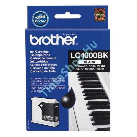 Brother LC1000 BK fekete (BK-Black) eredeti (gyári, új) tintapatron