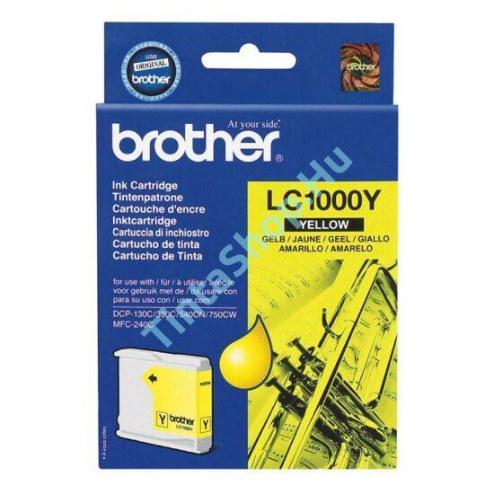 Brother LC1000 YL sárga (YL-Yellow) eredeti (gyári, új) tintapatron