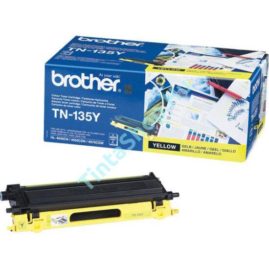 Brother TN-135 YL sárga (YL-Yellow) nagy kapacitású eredeti (gyári, új) toner