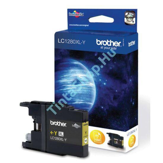 Brother LC1280 XL YL sárga (YL-Yellow) nagy kapacitású eredeti (gyári, új) tintapatron