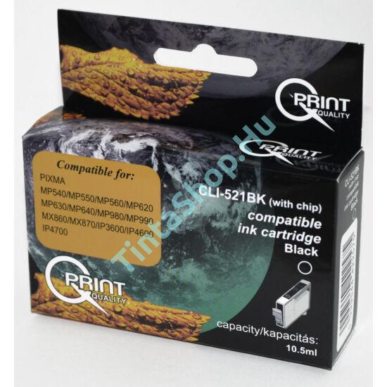 Canon CLI-521 BK CHIP fekete (BK-Black) kompatibilis (utángyártott) tintapatron