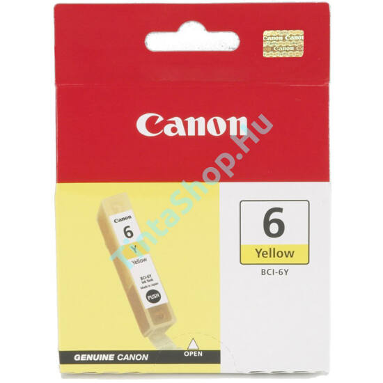 Canon BCI-6 YL sárga (YL-Yellow) eredeti (gyári, új) tintapatron