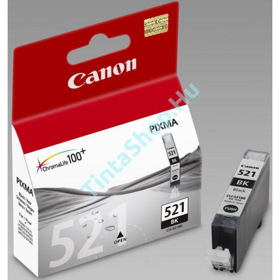 Canon CLI-521 BK fekete (BK-Black) eredeti (gyári, új) tintapatron