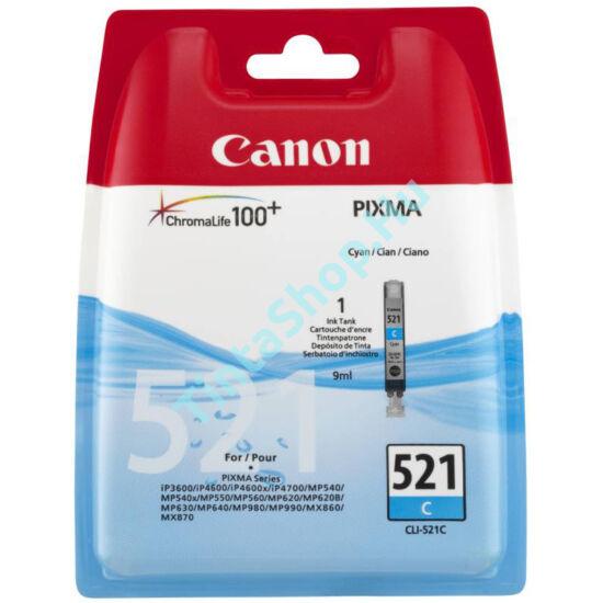 Canon CLI-521 CY Cián kék (CY - Cyan) eredeti (gyári, új) tintapatron