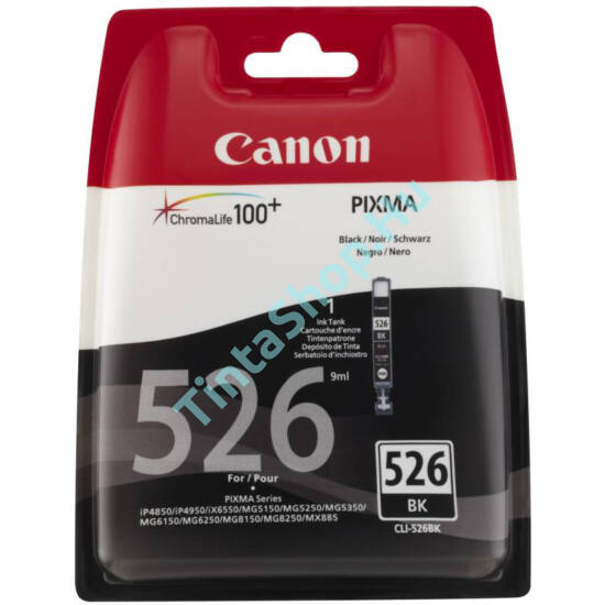 Canon CLI-526 BK fekete (BK-Black) eredeti (gyári, új) tintapatron