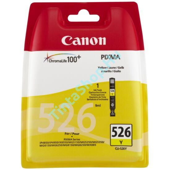 Canon CLI-526 YL sárga (YL-Yellow) eredeti (gyári, új) tintapatron