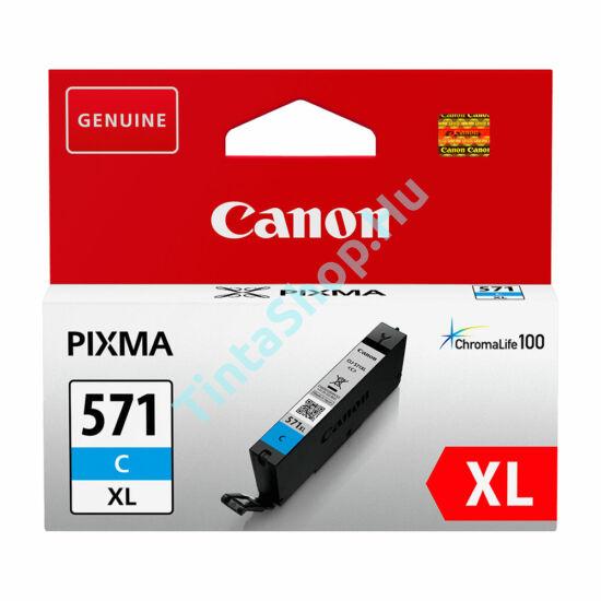 Canon CLI-571 CY XL cián kék (CY-Cyan) nagy kapacitású eredeti (gyári, új) tintapatron