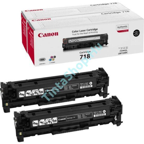Canon CRG-718 BK fekete (BK-Black) 2 darabos eredeti (gyári, új) toner