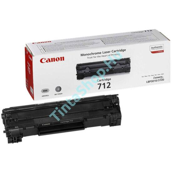 Canon CRG-712 BK fekete (BK-Black) eredeti (gyári, új) toner