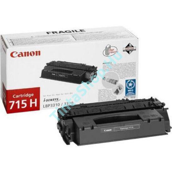 Canon CRG-715 BK fekete (BK-Black) eredeti (gyári, új) toner