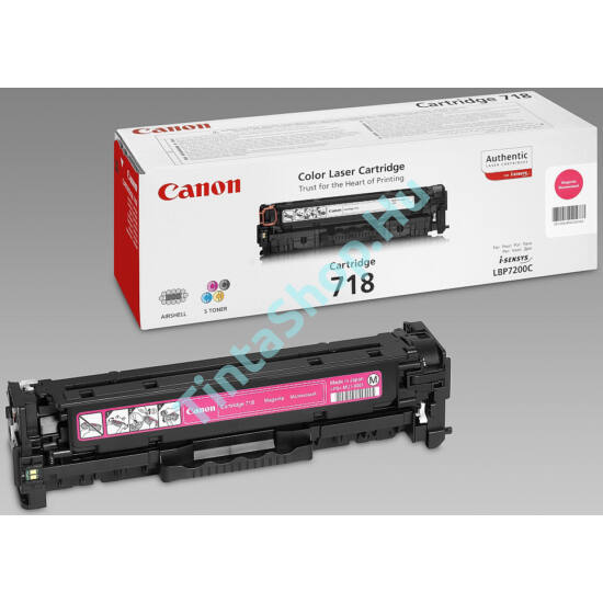 Canon CRG-718 MG bíbor (piros) (MG-Magenta) eredeti (gyári, új) toner