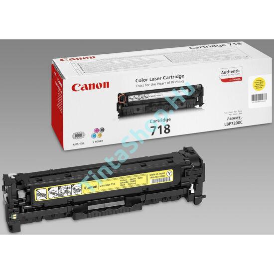 Canon CRG-718 YL sárga (YL-Yellow) eredeti (gyári, új) toner