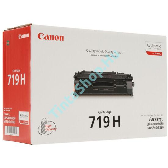 Canon CRG-719H BK fekete (BK-Black) nagy kapacitású eredeti (gyári, új) toner