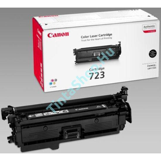 Canon CRG-723 BK fekete (BK-Black) eredeti (gyári, új) toner