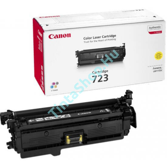 Canon CRG-723 YL sárga (YL-Yellow) eredeti (gyári, új) toner