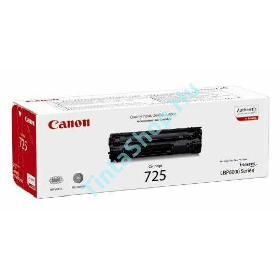 Canon CRG-725 BK fekete (BK-Black) eredeti (gyári, új) toner