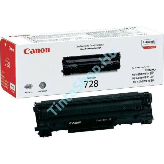 Canon CRG-728 BK fekete (BK-Black) eredeti (gyári, új) toner