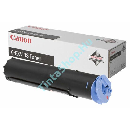 Canon IR 1018 (C-EXV 18)  BK fekete (BK-Black) eredeti (gyári, új) toner
