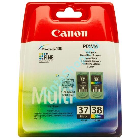 Canon PG-37 + CL-38 fekete és színes (BK-Color) eredeti (gyári, új) tintapatron