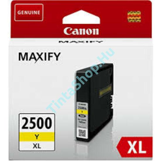 Canon PGI-2500 YL XL sárga (YL-Yellow) nagy kapacitású eredeti (gyári, új) tintapatron