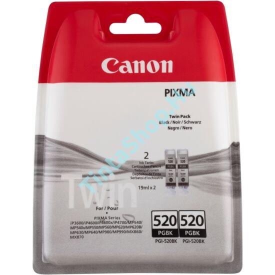 Canon PGI-520 BK (DUPLA) fekete (BK-Black) 2 darabos eredeti (gyári, új) tintapatron