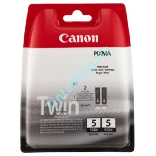 Canon PGI-5 BK (DUPLA) fekete (BK-Black) 2 darabos eredeti (gyári, új) tintapatron