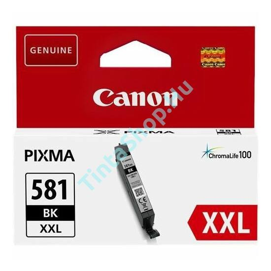 Canon CLI-581 BK XXL fekete (BK-Black) nagy kapacitású eredeti (gyári, új) tintapatron