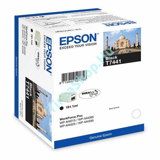 Epson T7441 BK XL fekete (BK-Black) nagy kapacitású eredeti (gyári, új) tintapatron