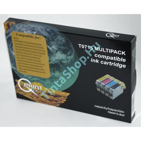 Epson T0715 BCMY Multipack kompatibilis (utángyártott) tintapatron