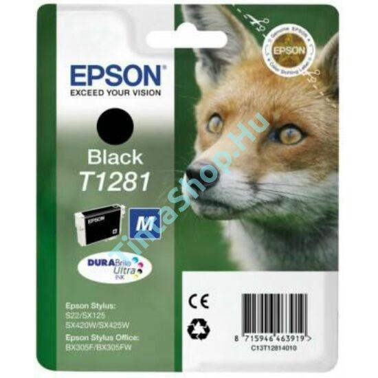 Epson T1281 BK fekete (BK-Black) eredeti (gyári, új) tintapatron