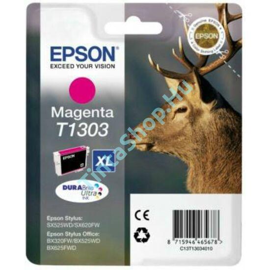 Epson T1303 MG XL bíbor (piros) (MG-Magenta) nagy kapacitású eredeti (gyári, új) tintapatron