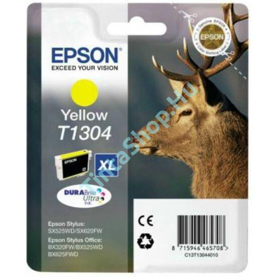 Epson T1304 YL XL sárga (YL-Yellow) nagy kapacitású eredeti (gyári, új) tintapatron