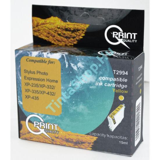 Epson T2994 (No.29 XL) YL sárga (YL-Yellow) nagy kapacitású kompatibilis (utángyártott) tintapatron