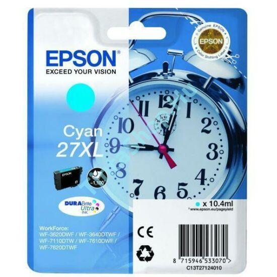 Epson T2712 (No.27 XL) CY cián (kék) (CY-Cyan) nagy kapacitású eredeti (gyári, új) tintapatron