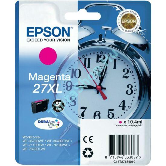 Epson T2713 (No.27 XL) MG bíbor (piros) (MG-Magenta) nagy kapacitású eredeti (gyári, új) tintapatron