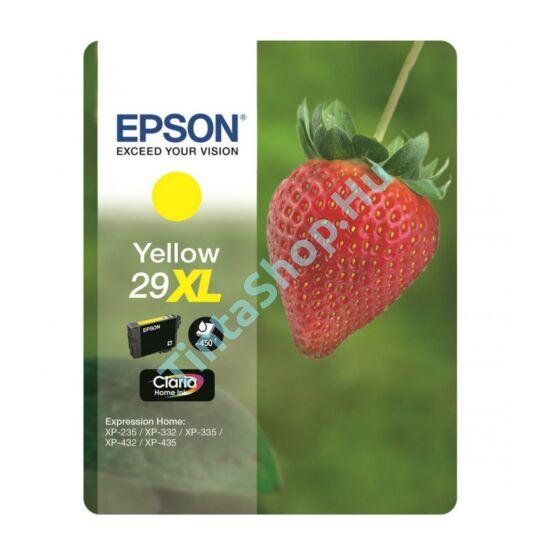 Epson T2994 (No.29 XL) YL sárga (YL-Yellow) nagy kapacitású eredeti (gyári, új) tintapatron